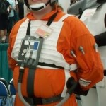 The author dressed as an X-Wing Pilot, back in 2001.