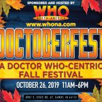 Image for Doctoberfest, a Doctor Who-centric fall festival. Gives hours and address, both provided in blog post.